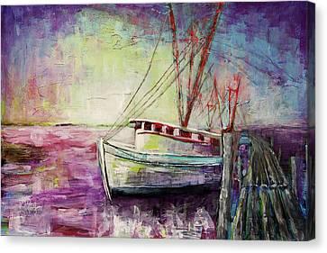 Carolina Shrimp Boat Canvas Print by Gray  Artus