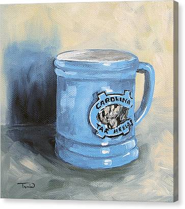 Carolina Tar Heel Coffee Cup Canvas Print