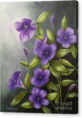 Carolina Wild Petunia Ruellia Caroliniensis Canvas Print