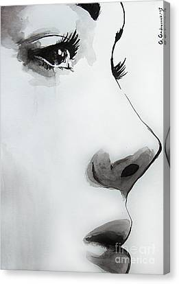 Caroline Canvas Print by Anna Androsovski