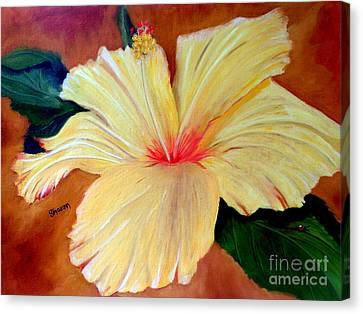 Carols Hibiscus Canvas Print by Sharon Burger