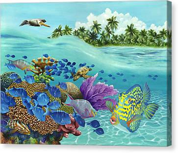 Coral Carnival Canvas Print by Carolyn Steele