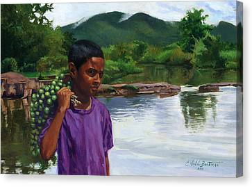 Black Artist Canvas Print - Caroni Chennette by Colin Bootman