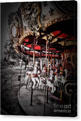 Carousel 2 Canvas Print by September  Stone