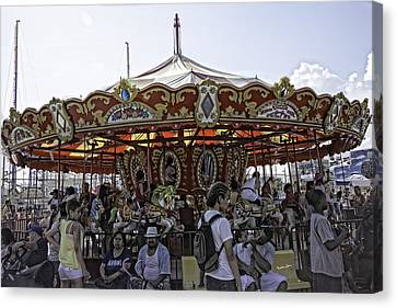Carousel 2013 - Coney Island - Brooklyn - New York Canvas Print
