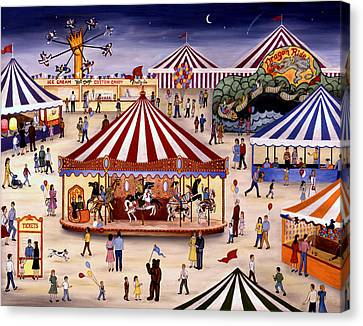 Carousel 90 Canvas Print by Linda Mears
