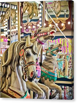 Carousel At Casino Pier Canvas Print by Colleen Kammerer