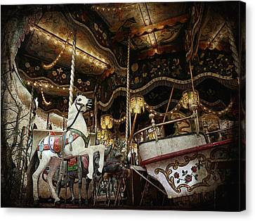 Canvas Print featuring the photograph Carousel by Barbara Orenya