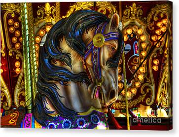 Carousel Beauty Waiting For A Rider Canvas Print by Bob Christopher