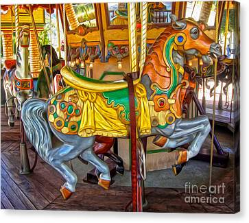 Carousel Horse - 03 Canvas Print by Gregory Dyer