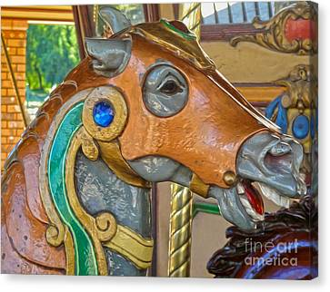 Carousel Horse - 04 Canvas Print by Gregory Dyer