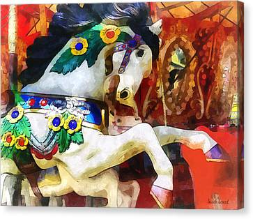 Carousel Horse Closeup Canvas Print