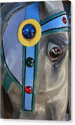 Canvas Print featuring the photograph Carousel Horse by Diane Alexander
