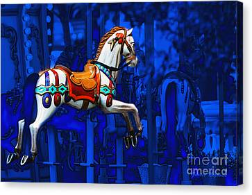 Carousel Horse Canvas Print by Gunter Nezhoda