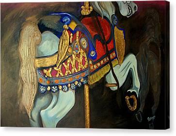 Carousel Canvas Print by John Stevens