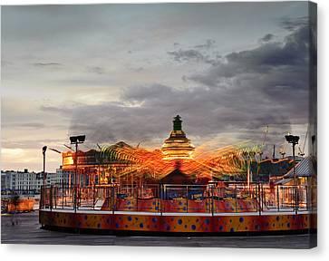 Carousel Canvas Print by Matthew Gibson
