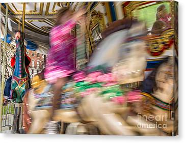 Carousel Canvas Print by Susan Cole Kelly Impressions