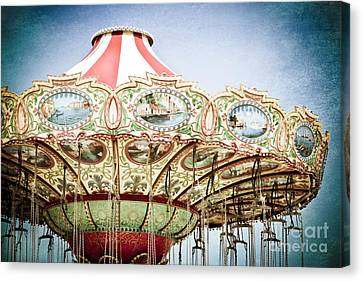 Carousel Top Canvas Print by Colleen Kammerer