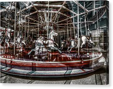 Carousel Canvas Print by Wayne Sherriff