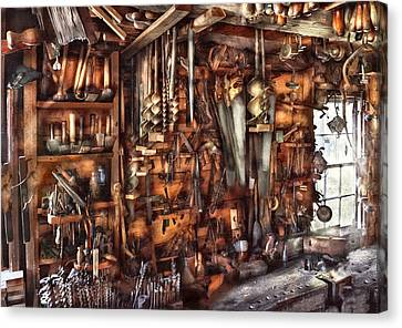 Carpenter - That's A Lot Of Tools  Canvas Print by Mike Savad
