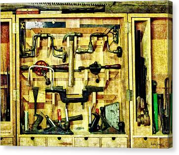 Carpenter - Woodworking Tools Canvas Print by Susan Savad