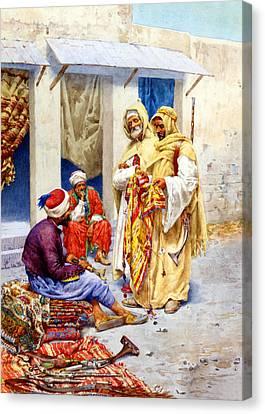 Carpet Seller Canvas Print by Munir Alawi