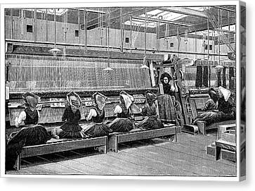 Carpet Weaving In Turkey Canvas Print by Science Photo Library