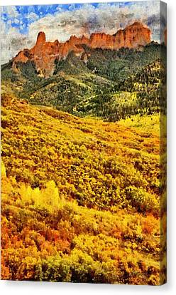 Carpeted In Autumn Splendor Canvas Print by Jeff Kolker