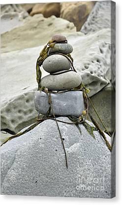 Carpinteria Stones Canvas Print by Minnie Lippiatt