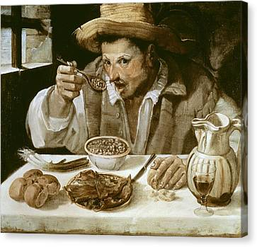 Carrache, Annibale. The Beaneater. Ca Canvas Print by Everett
