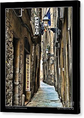 Carrer De Sant Domenec Del Call Canvas Print