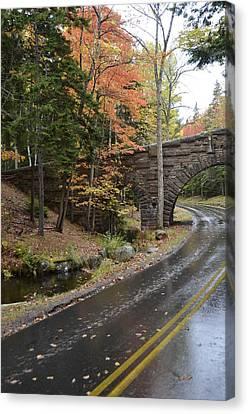 Carriage Bridge In Acadia Canvas Print