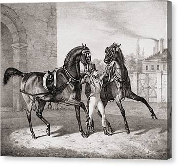 Carriage Horses For The King Canvas Print by French School