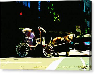 Carriage Ride Canvas Print by CHAZ Daugherty