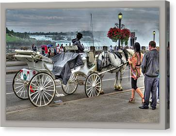 Carriage Ride Canvas Print by Cindy Haggerty