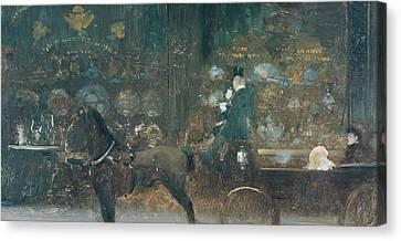 Carriage Ride Canvas Print by Giuseppe De Nittis