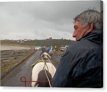 Carriage Ride On Inis Oirr Canvas Print by James Potts