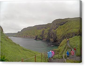 Mystical Landscape Canvas Print - Carrick-a-rede Northern Ireland by Betsy Knapp