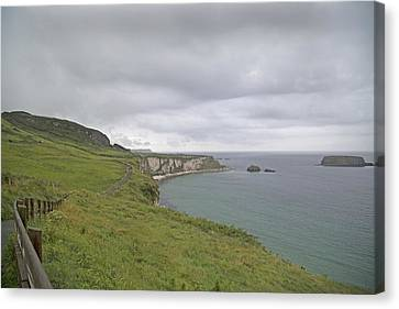 Carrick-a-rede Path Ireland Canvas Print by Betsy Knapp