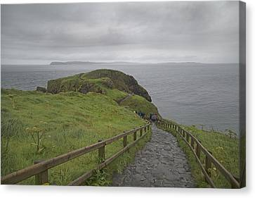 Mystical Landscape Canvas Print - Carrick-a-rede Pathway Ireland by Betsy Knapp