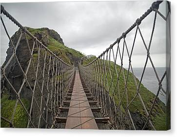 Carrick-a-rede Rope Bridge Ireland Canvas Print by Betsy Knapp