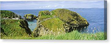 Carrick-a-rede Rope Bridge Canvas Print by Panoramic Images