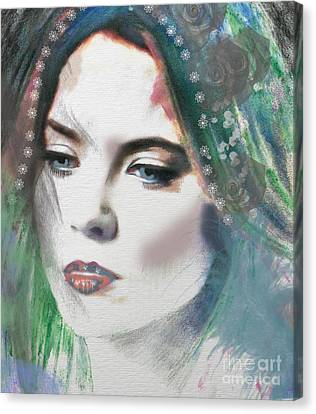 Carrie Under Veil Canvas Print