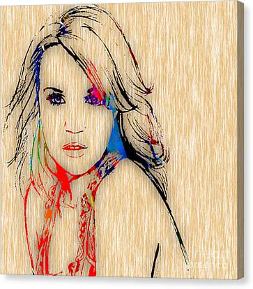Carrie Underwood Painting. Canvas Print