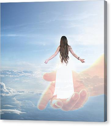 Carried By God's Hand Canvas Print by Ester  Rogers