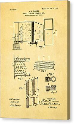 Carrier Air Conditioning Patent Art 1906 Canvas Print by Ian Monk