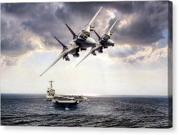 Carrier Strike Group Three Canvas Print by Peter Chilelli