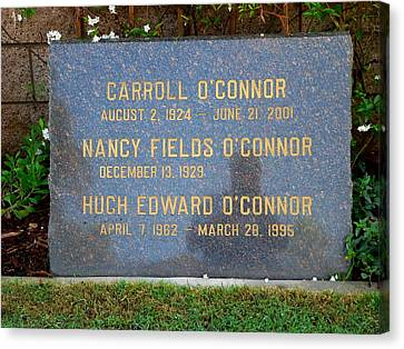 Carroll O'connor Canvas Print by Jeff Lowe