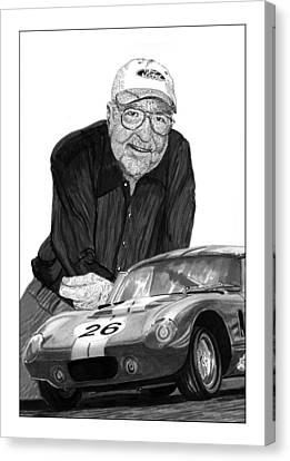 Stippling Canvas Print - Carroll Shelby    Rest In Peace by Jack Pumphrey