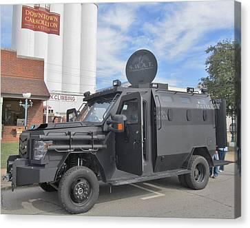 Carrollton Texas Police Vehicle Canvas Print by Donna Wilson